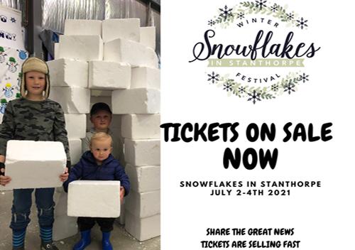 Snowflakes in Stanthorpe 2021 Logo