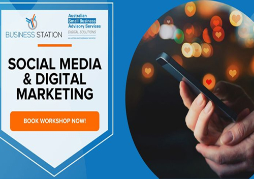 Social Media & Digital Marketing Workshop Logo