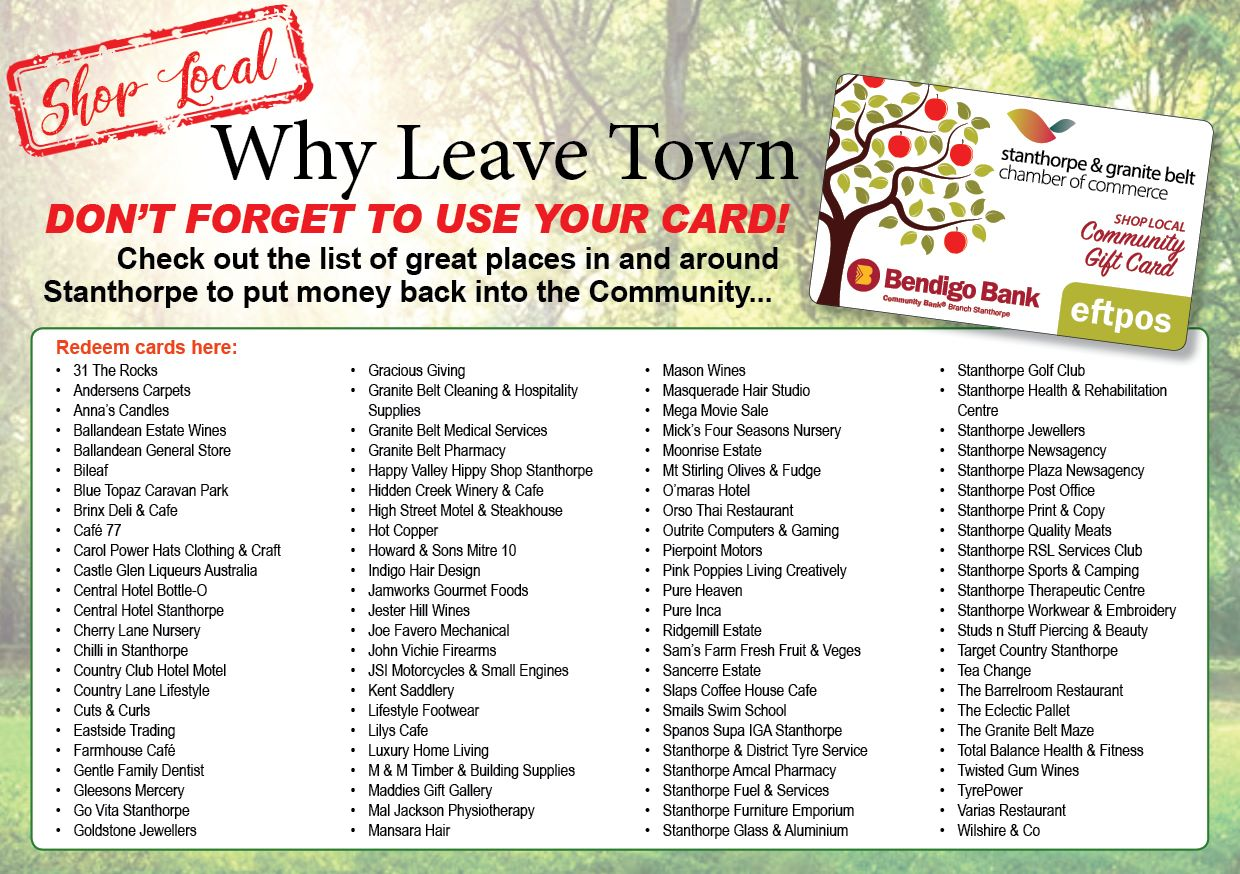 Why Leave Town Gift Card Logo